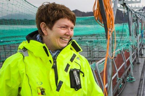 I FAMILIEN: Elin Tveit Sveen er dagleg leiar og ein av eigarane av Marø Havbruk AS.