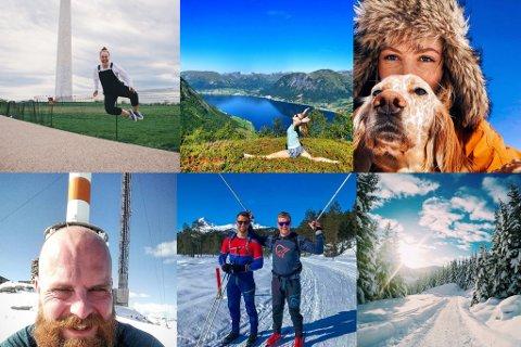NOMINERTE: Øvste rekke: matildeullis, hikingmalin, tirilfossheim. Nedste rekke: svenvigj, magnushopland og sunnfjordfjell.