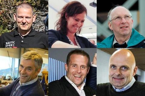BLANT TOPPANE: Oppe frå venstre Ronny Kandal, Magni Aa Berge, Kurt Djupevik, Geir-Atle Bolseth, Jesper Melin Ganc-Petersen og Ivar Johan Hetle.