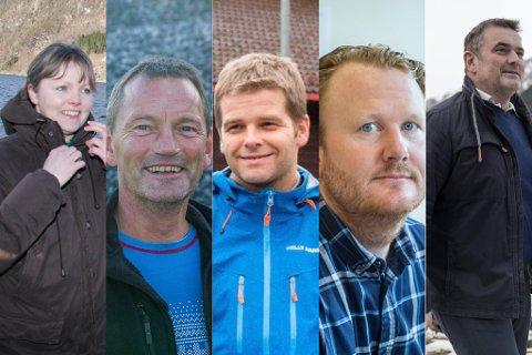 LISTETOPPEN: F.v. Åse Marie Helgheim Thingnes, Håvar Røyseth, Jan Inge Rygg, Gjermund Johannessen og Stian Grimseth.