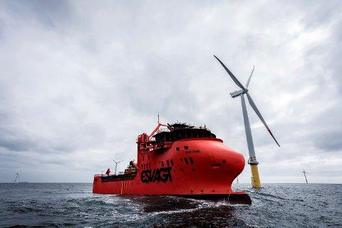 NY KONTRAKT: Havyard har skrive ny kontrakt med ESVAGT. I 2021 skal skipsverftet i Leirvik levere sitt åttande vindmølleskip.