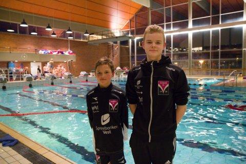 GIR ALT: – I konkurranse får ein eit ekstra gir, seier frå venstre Andreas Hvidsten og Reinert Solheim Erland.