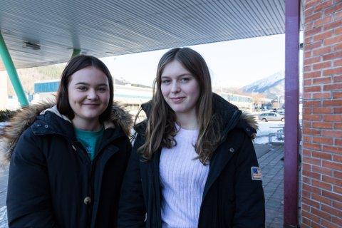 INFLUENSA: Sara Lill Høydal (14) og Sofie Skaar Andersen (14) vil helst ikkje ha influensa fleire gonger i år. Sofie (t.v.) har allereie lege nede for telling i ei veke, og kjenner seg framleis litt småsnufsen.