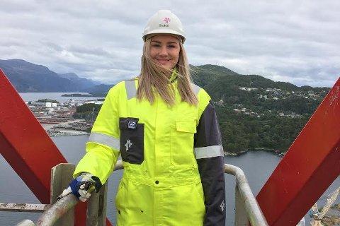DYKTIG: Martine Førde imponerte Statoil og sikra seg jobb i stor konkurranse med tusenvis av andre.