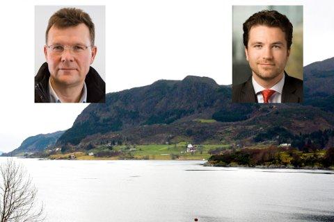GRUVEKAMP: Tore Viana-Rønningen (t.h.) og AMR luftar tanken om at både dei og Nordic Mining kan hente mineral frå Engebøfjellet. Nordic Minings Ivar S. Fossum vil ikkje kommentere utspelet.