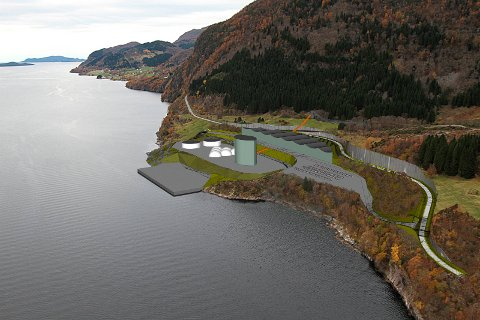 PÅ VEG: Slik såg ein i 2018 føre seg eit framtidig anlegg for Nordic Mining på Engebø i Naustdal. No håpar Ivar Fossum på oppstart i løpet av året.
