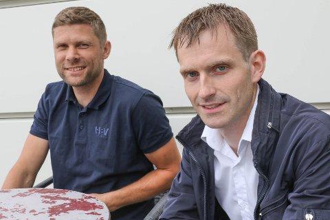 SEL AKSJANE: Dagleg leiar Egil Vallestad og styreleiar Stian Hårklau i Holsen Kraft Norddøla AS skal ha ei passiv rolle i kraftverket framover.