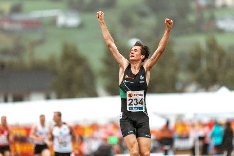 SIGER: Jakob Ingebrigtsen tok NM-gullet på 1500 meter.