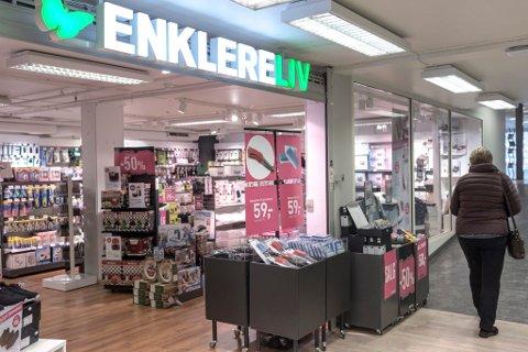 KONKURSAR: Auken i tal konkursar er høgst i Møre Romsdal, men Sogn og Fjordane ligg like bak. Særleg er det innan varehandel det er størst auke på landsbasis. I sommar gjekk butikk-kjeda Enklere Liv konkurs. Her frå butikken i Førde.