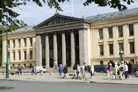 Universitetsbygningen i Oslo.