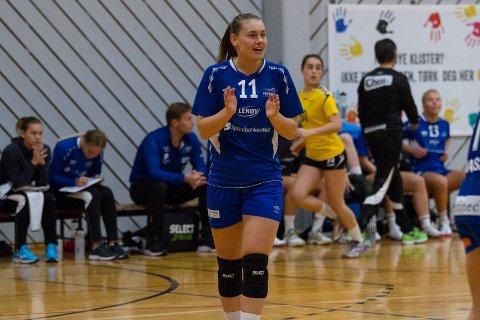 KJEM HEIM: Tertnes-spelar Kjerstin Boge Solås gler seg til å kome tilbake til Sunnfjord og spele framfor sitt gamle heimepublikum.