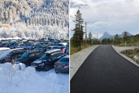 REKORDÅR: Langeland ski- og fritidssenter hadde 1,2 millionar kroner i brukarinntekter i vinter. Det er soleklar rekord. Like stort besøk har det ikkje vore ved deira nye rulleskianlegg (t.h.)