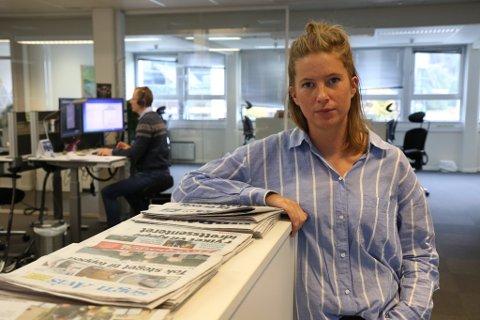 FRYKTAR KONSEKVENSANE: Marie Havnen, konst. redaktør i Firda, fryktar det kan bli tøft for avisene og for Firda dersom forslaget om postomdeling annakvar dag, går igjennom.
