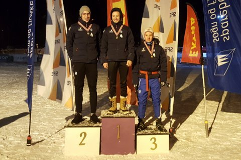 PALLEN I M17: Oliver Bosdal Thorsen (Førde IL), Ivar Nistad (Gaular IL) og Håkon Aa Albretsen (Kaupanger IL).