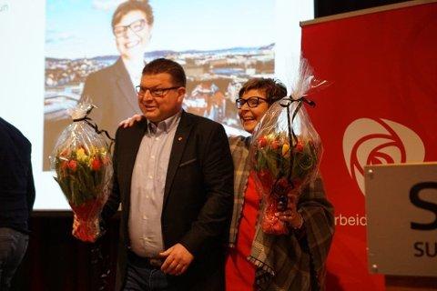 TOPPAR LISTA: Anne Gine Hestetun frå Bergen og Arve Helle frå Fjaler er toppkandidatane for Vestland Ap.