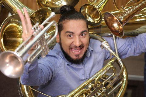 FAVORITT: Marko Markovic kjem frå Serbia med trompet.