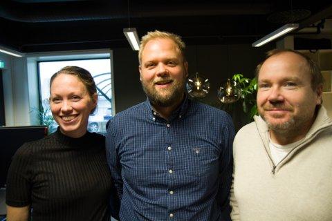 I VEKST: Norse Feedback AS spring ut frå forskning ved Helse Førde og er stor vekst. Frå venstre: Prosjektleiar Hege Hopland-Nechita, dagleg leiar Joachim Vie og IT-sjef Rolf Woll.