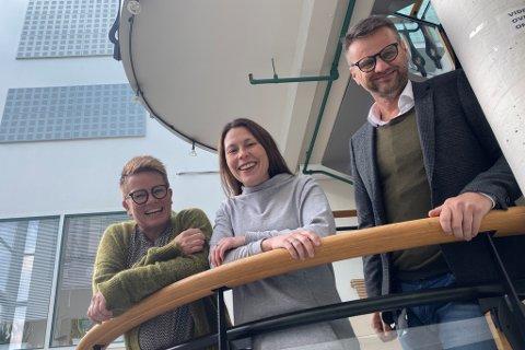 SAMARBEID: Frå venstre: Linda Hovland (Framtidsfylket), Heidi Torkildson Ryste (Trainee Indre Hordaland) og Nandor Helgheim (Framtidsfylket).