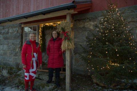 FLEIRBRUK: Familielåven til Janne Elin og Ellinor Hårklau har blitt brukt til mykje. Dei siste tre åra har den vore julebutikk.