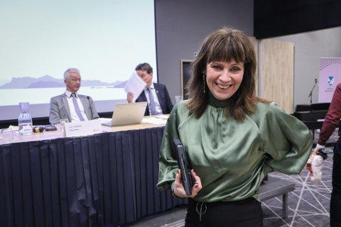 MOT Å TA GRUVEDEBATT: Jenny Følling (Sp) meiner Engebøsaka ikkje høyrer heime i Vestlandstinget.