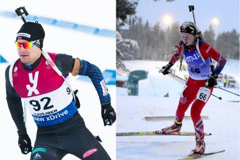 TIL IBU-CUP: Både Håvard Bogetveit og Karoline Erdal, begge frå Førde er teke ut til IBU-cup, som på ein måte er landslaget for dei nest beste i landet.