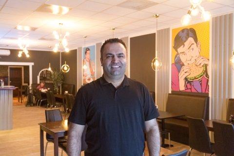 HAR LAGT OM: Mustafa Tumer har fornya lokalet og bytta namn på restauranten sin frå Den Gamle Nabo til Let's Meat.