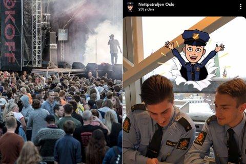 SOSIALE MEDIUM: Politiet i Sogn og Fjordane ønskjer å bruke Snapchat for å nå ungdom under Malakoff og Målrock i sommar.