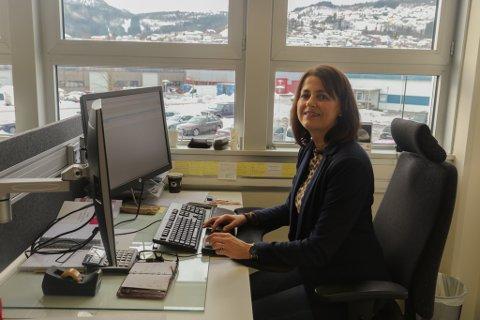 NY JOBB: Anne-Hilde Håland (54) har fått den nyoppretta stillinga som salsdirektør for Amedia region vest.