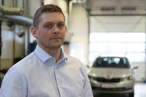 BLIR SEKSJONSLEIAR: Kristian André Sæbø har mellom anna jobba i Statens vegvesen. No blir han seksjonsleiar for anestesisjukepleiarane på sentralsjukehuset.
