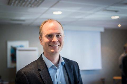 FLESLAND: Christian Skaug, kommersiell direktør Widerøe, meiner fleire ruter likegodt kan flygast frå Bergen som frå Oslo. Passasjerane frå Bringeland vil gå glipp av Widerøe si vestlandssatsing.