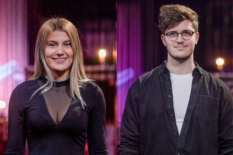 TO FRÅ FYLKET: Fredag kveld var to frå fylket med i andre runde av The Voice. Alice Kucevic Hugøy rauk ut, Sindre Steig gjekk vidare til neste runde.