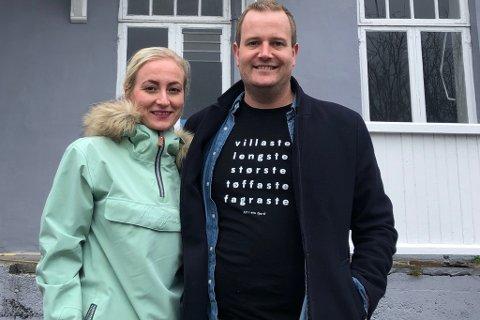 NYTT TILBOD: Elise Øygard og sambuaren Preben Moen kjøpte Gullsmedhuset på Sandane i 2019. No held dei på å gjere klart til eit urbant tilbod i kjellaren, Gulldamene restaurant og vinbar.  Arkivfoto