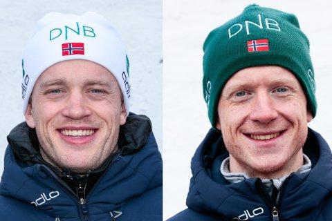 MEDALJEJAKT: Tarjei og Johannes Bø er på plass i Östersund.