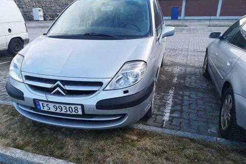STOLEN? Stein Olav Erikstad etterlyser denne bilen etter at han forsvann frå parkeringsplassen ved Uno X i Førde natt til onsdag.