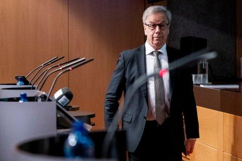 RENTE: Sentralbanksjef Øystein Olsen kunngjer torsdag ei ny renteavgjerd frå hovudstyret i Noregs Bank.