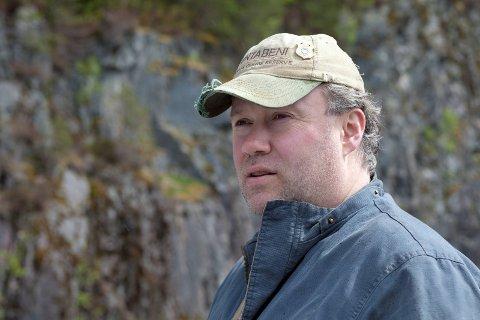 HAR GJORT AVGRENSINGAR: Eiliv Erdal meiner han og resten av styret i Nausta elveeigarlag har lagt opp til fornuftig fisking i elva.