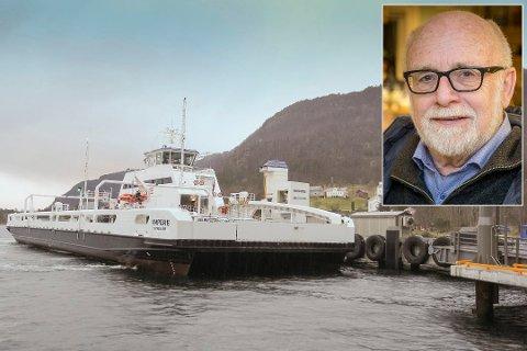 FÅR IKKJE ATT PENGANE: Kjell Skaaheim får ikkje att dei 2000 kronene han måtte betale i straffegebyr då han i november kjøpte billett for seint på Ampere mellom Lavik og Oppedal.