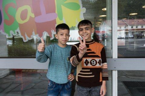 TO GODE VENAR: Ibrahim Al Adel og Shadi Hamchan blei gode venar i flyktingsleir i Beirut. No er dei endeleg foreina på nytt.