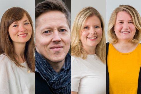 TILSETTE: Frå venstre: Tora Toreng, Øystein Garfors, Linda Martinsen og Cathrine Ekehaug.