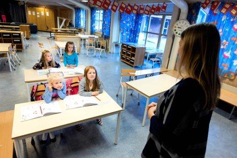 STØRST BEHOV PÅ SMÅSKULETRINNET: Behovet for auka fagkompetanse i engelsk er størst på småskuletrinnet, der sju av ti engelsklærarar manglar kompetanse i faget.