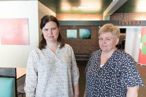 GRUNNEIGARAR: Lena Vefring (t.v.) og Veronica Standal er grunneigarar i Vevring. Dei er kritisk til korleis Nordic Mining har gått fram i deira forsøk å starte gruvedrift på eigedommane deira.