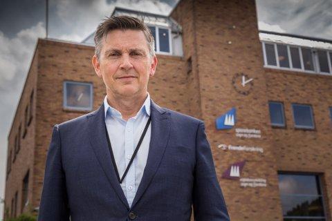 EIN GLIPP: Trond Teigene, administrerande direktør i Sparebanken Sogn og Fjordane, seier stillingsannonsen var ei tabbe.
