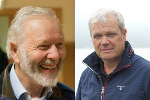EIGARANE: Inge Helge Vassbotten (t.v.) starta med oppdrett i 1981. Sonen Alex er dagleg leiar Steinvik Fiskefarm i dag.