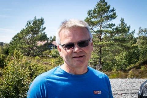 MOT: Jarl Egil Haugsbø meiner den nye kraftlinja til Lutelandet kan føre til at andre vindkraftprosjekt blir lettare å realiserte. Han oppfordrar motstandarar av vindkraft til å engasjere seg i Lutelandet.