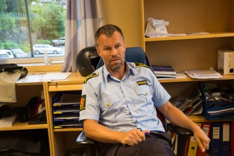 SIKRE SPOR: Lensmann Dag Fiske, fortel at politiet har sikre spor etter innbortet på Ulltang, til å komme i mål med saka.