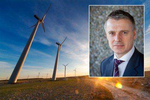 FORVENTNINGAR: Vassdrags- og energidirektør Kjetil Lund har sendt brev til alle selskap med konsesjon for å bygge vindkraft. Der presiserer han forventningane til involvering av kommunar og lokale interesser.