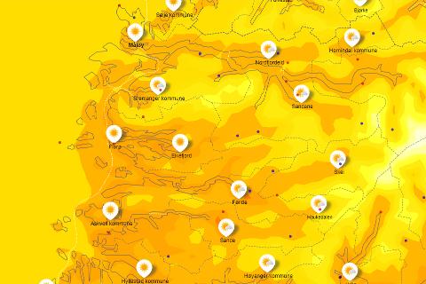 VARMARE: Temperaturane kjem til å stige denne veka.