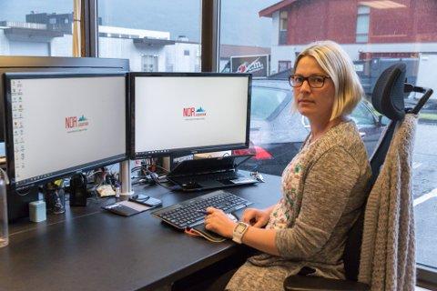 OPPDAGA SVINDEL: Karianne Hestad og kollegaene skjønte kjapt at fakturaene kundane deira hadde fått, var svindel.