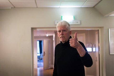 GLAD MANN: Ove Farsund (Ap) stod langt nede på lista, men vart likevel stemt inn i Sunnfjord kommunestyre.