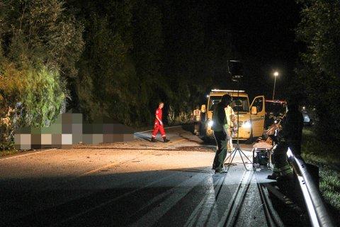 Trafikkulykke ved Nistadlia i Fjaler. Fv. 57. To mc-førarar til sjukehus.